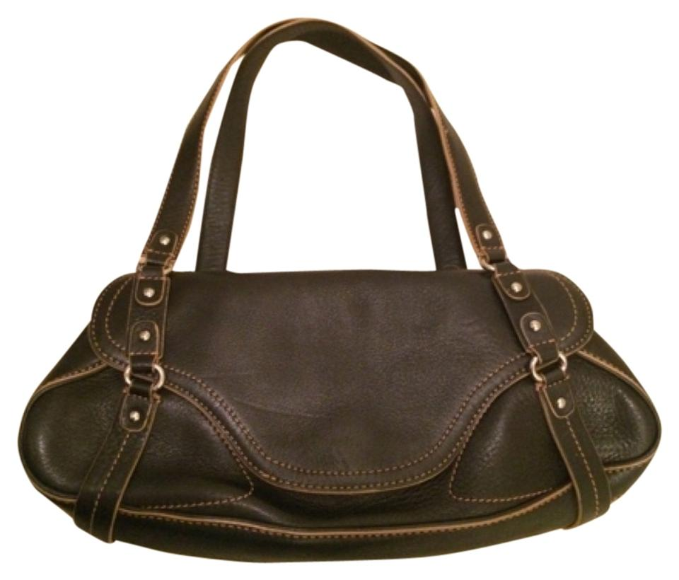 Cole Haan Michael Kors Kate Spade Tory Burch Coach Small Leather Beige Brown Metallic Hardware Double