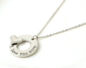 Silver I Love You More Necklace Free Shipping