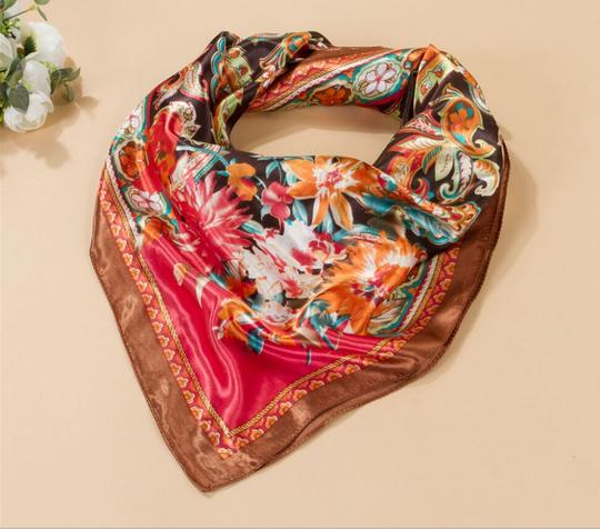 Other BOGO Satin/Silk Like floral summer scarf free shipping