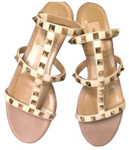 Valentino White & gold Sandals