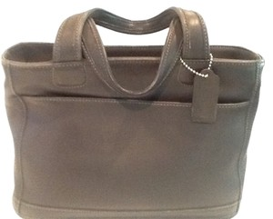 Coach Satchel in Charcoal Grey