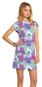 Lilly Pulitzer short dress Blue Multi Color on Tradesy