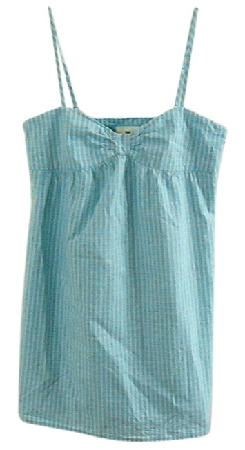 Heritage 1981 Cotton Checkered Top turquoise plaid
