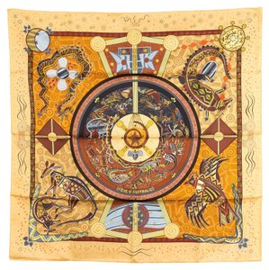 Hermès Hermes Silk Scarf Reve D' Australie (Authentic Pre Owned)