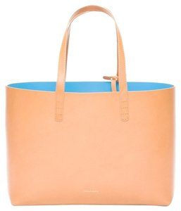 Mansur Gavriel Leather Tote in Cammello