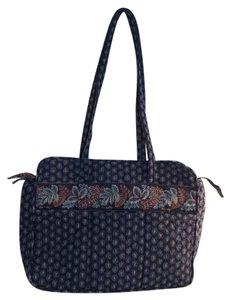 Vera Bradley Navy Blue Red Messenger Bag
