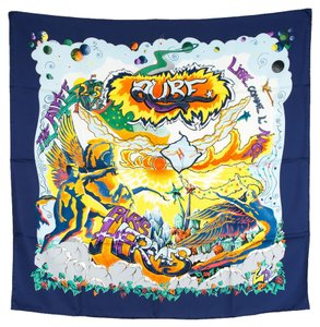 Hermès Hermes Silk Scarf AUBE THE ALFEE 25th ANNIVERSARY(Authentic Pre Owned)