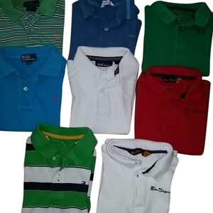 Ralph Lauren, Tommy Hilfiger, Ben Sherman London 6 Pair of Short sleeve Designer Polo shirt for Toddler