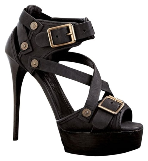 Burberry Dark Green Sandals