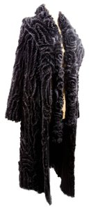 Samuel Grossman Fur Mink Silk Scarf Fur Coat