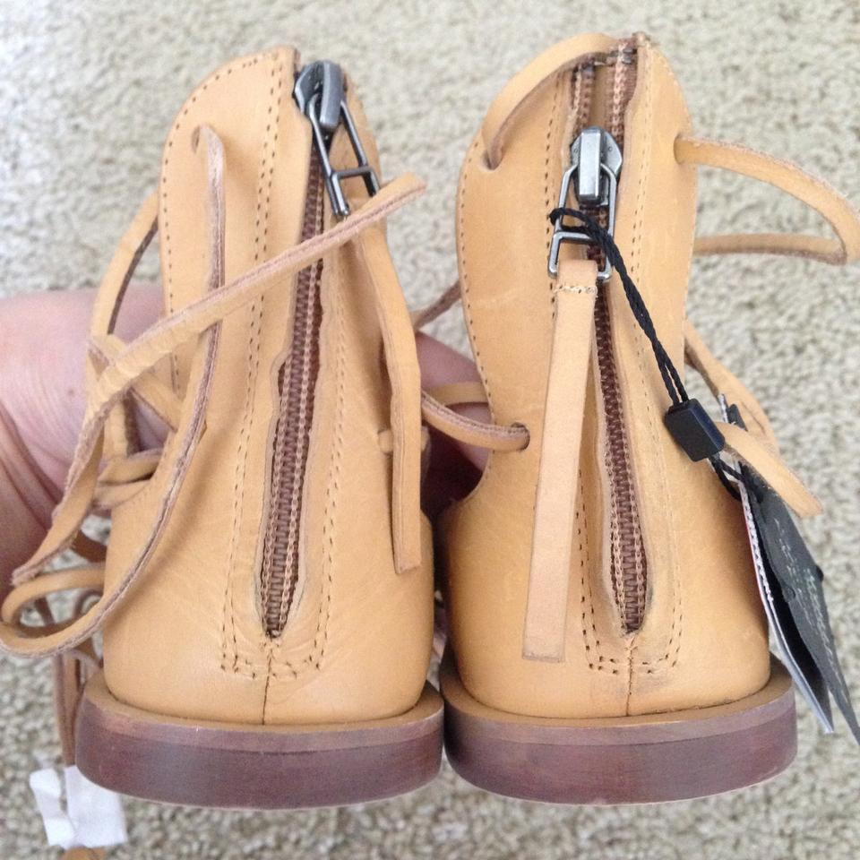 bfd930d1a1a Zara Lace Up Leather Roman Gladiator Sandals Size US 7.5 - Tradesy