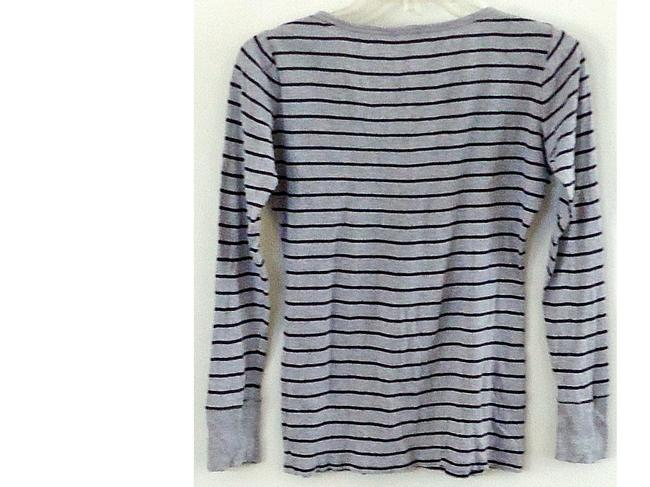 Gap Cotton V-neck T Shirt striped