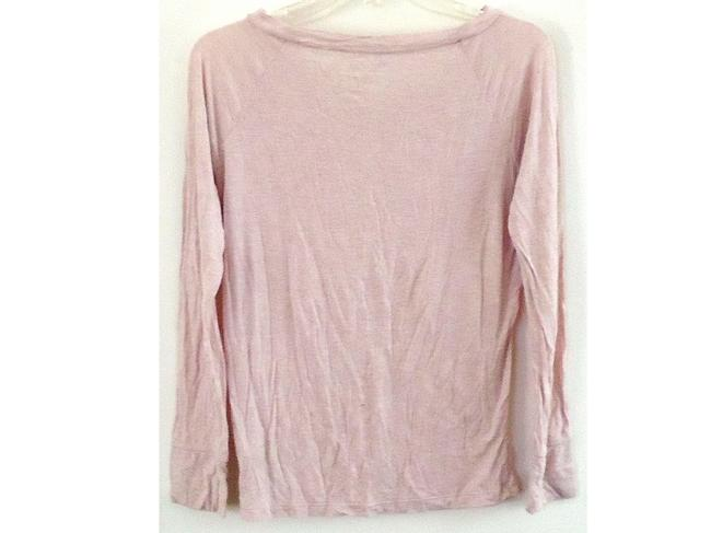 Gap Cotton V-neck T Shirt pink