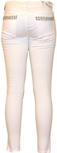 BlankNYC Cropped Capri Ankle Zip Skinny Jeans-Light Wash