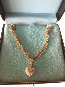 Juicy Couture JUICY COUTURE CROWN AND RHINESTONE HEART NECKLACE