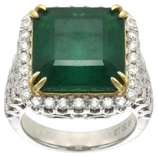 Preload https://item5.tradesy.com/images/ladies-18k-white-gold-diamond-and-emerald-antique-style-cocktail-ring-4428244-0-0.jpg?width=440&height=440