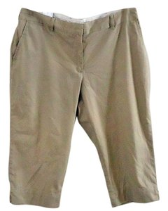 Lands' End Cotton Capris tan