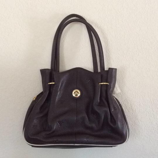 Misty Collection Tote in Brown/Cream