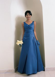 Alfred Angelo Cornflower Satin Style Number 6716 Formal Bridesmaid/Mob Dress Size 26 (Plus 3x)