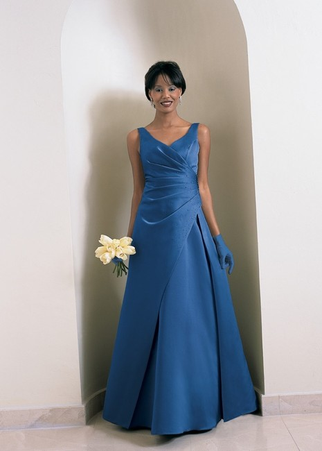 Item - Cornflower Satin Style Number 6716 Formal Bridesmaid/Mob Dress Size 26 (Plus 3x)