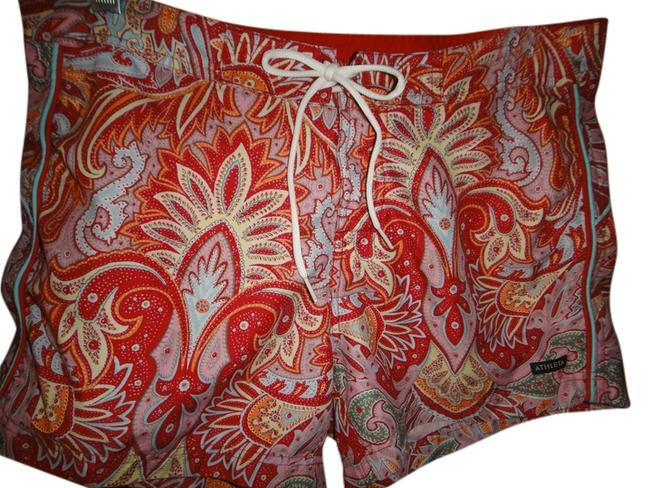Item - Red Multi Board Shorts Cover-up/Sarong Size 8 (M)