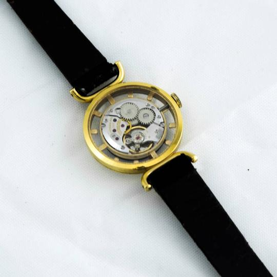 Juvenia JUVENIA Ladies Mystery Dial Skeleton Back Wristwatch C1960s