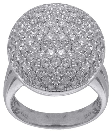 Other BRAND NEW, Ladies 14k White Gold Cocktail Ring with Halo Design