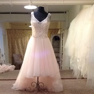 Sottero and Midgley Blush Tulle Wedding Dress Size 10 (M)