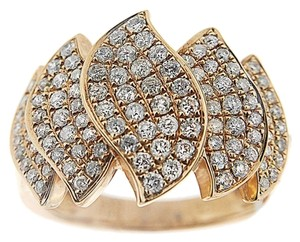 Other BRAND NEW, 18k Gold Ladies Diamond Geometric Cocktail Ring