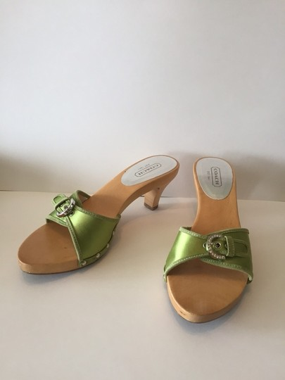 Coach Lime Green Sandals