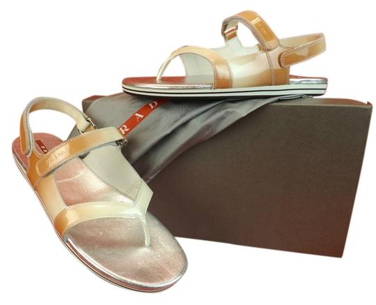 Preload https://item3.tradesy.com/images/prada-ombre-patent-leather-flats-two-tones-gladiator-logo-sandals-size-eu-375-approx-us-75-regular-m-4429747-0-0.jpg?width=440&height=440