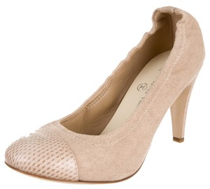 Chanel Tan Nude Leather Beige Pumps