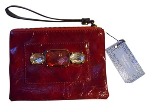 Vera Wang Wristlet in burgandy red