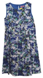 Eliza J 14w Plus-size Flowers Blue Dress