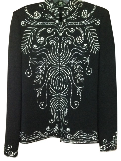Item - Black with Silver Accents Skirt Suit Size 4 (S)