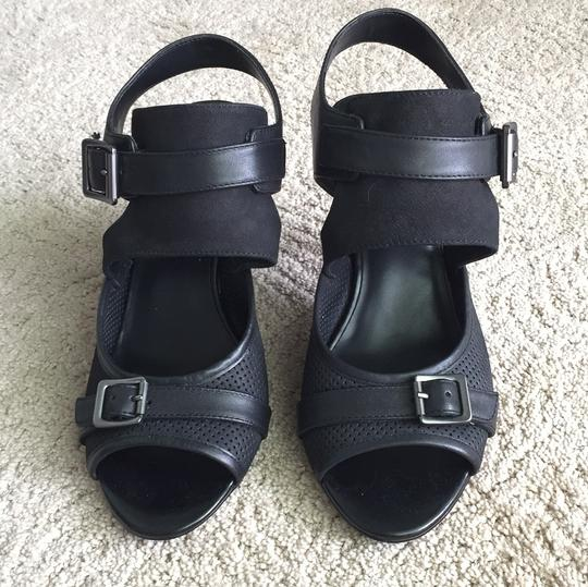 Luxury Rebel Leather Buckle Party Strappy Sandal Black Pumps