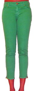 Rich & Skinny Colored Ankle Zip Capri/Cropped Denim-Light Wash