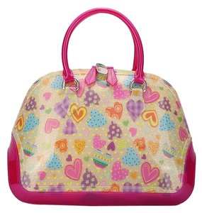 SABOHEMIAN Satchel in Hearts/ Fuchsia