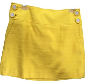 Banana Republic Linen Skirt yellow