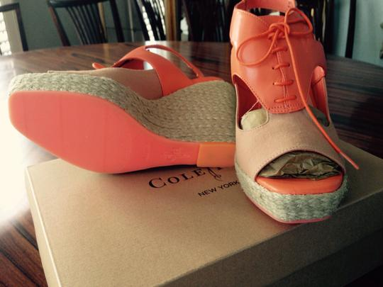 Cole Haan Creamsickle/tan Wedges