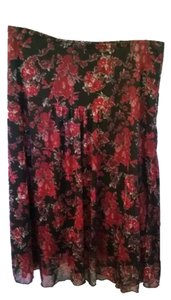 Wrapper Skirt Black/red floral