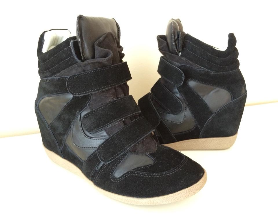 46620993d9d Steve Madden Wedges Sneakers Suede Sneakers Wedges Wedge Sneakers Sneakers  Black Athletic Image 2. 123
