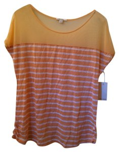 Ella Moss Top Orange White