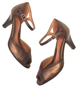 Söfft Ankle Strap Bronze & Brown Pumps
