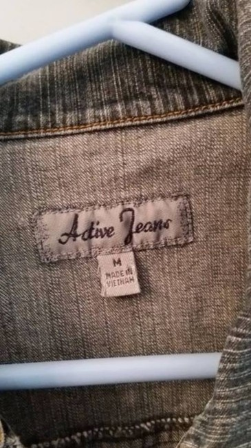 Active Jeans Stretch blue Womens Jean Jacket