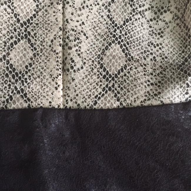 Other Snakeskin Faux Leather Party Animal Print Classic Top Black