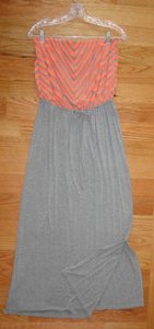 Heather Grey & Orange Maxi Dress by a.n.a. a new approach