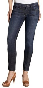 William Rast Capri Cropped Skinny Capri/Cropped Denim-Dark Rinse