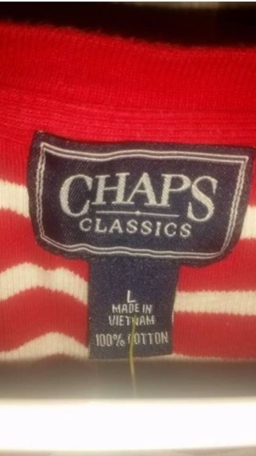 Chaps Top Red/White