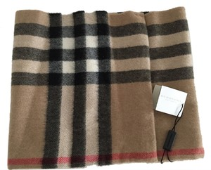 Burberry Burberry Camel Classic Check Cashmere Girls Children Snood Scarf